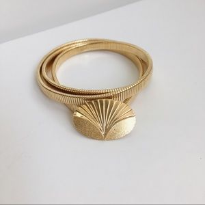 Vintage Gold Slinky Belt